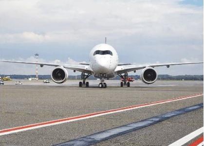 Il nuovo Airbus 350 XWB è atterrato a Malpensa
