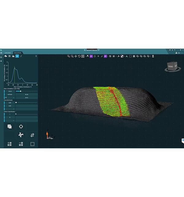 Digitalizzazione 3D e rilevamento dei difetti per CFRP